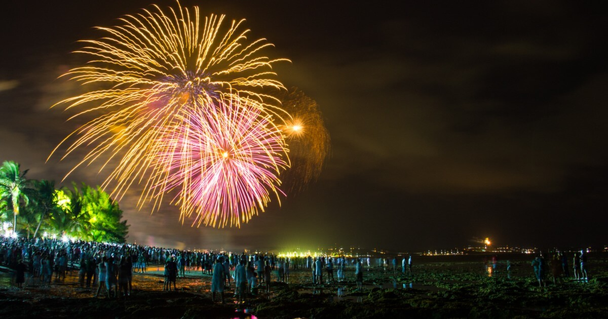 Ano Novo em Maceió: Show de fogos na praia