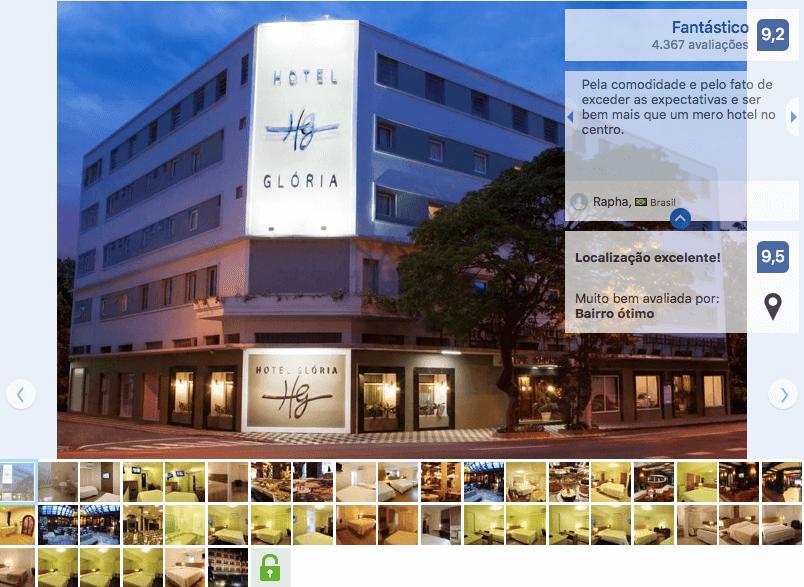 Hotel Glória próximo ao Neumarkt Shopping em Blumenau
