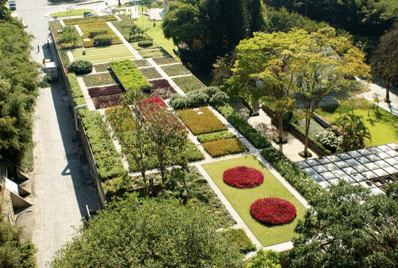 Museu Hering em Blumenau: Jardim suspenso