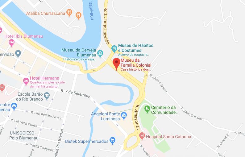 Museu da Família Colonial em Blumenau: Mapa