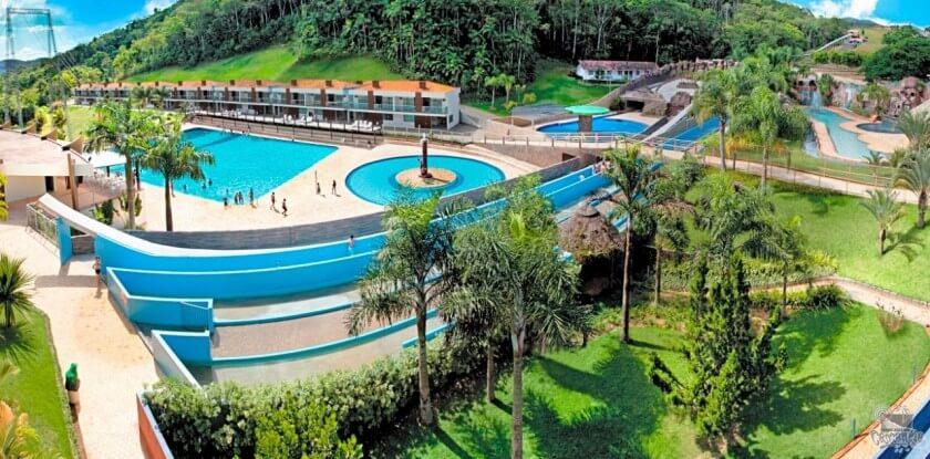 Parque Aquático Cascanéia em Blumenau: Complexo