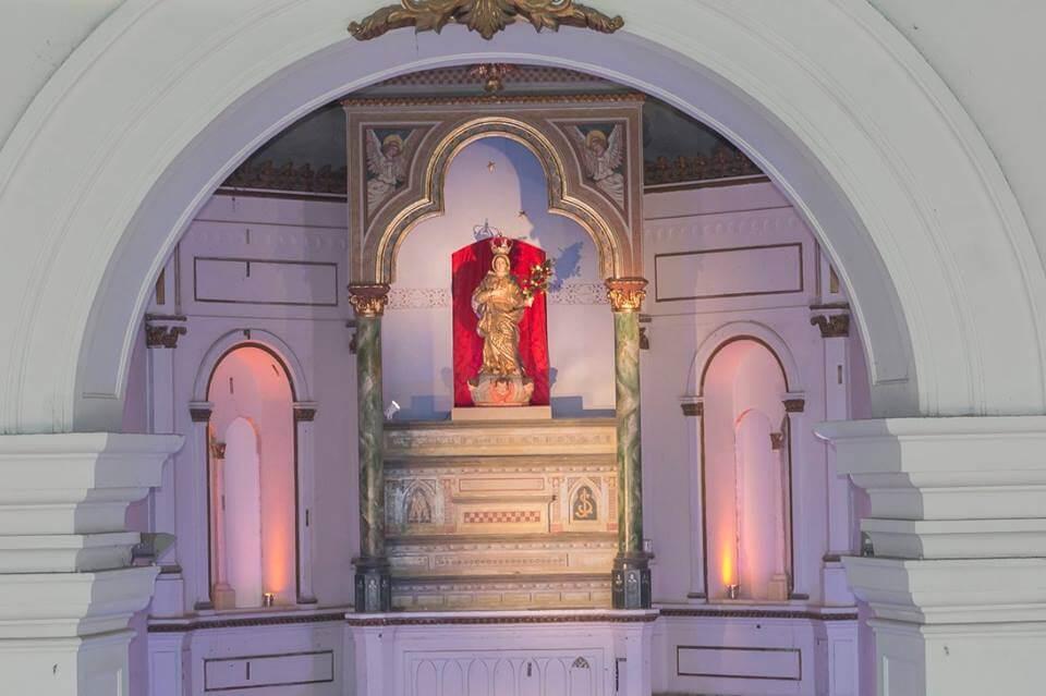 Padroeira Nossa Senhora dos Prazeres na Catedral Metropolitana de Maceió