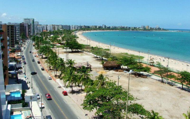 Melhores praias de Maceió: Orla da praia Pajuçara