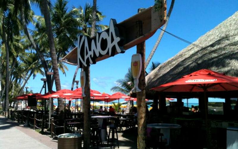 Melhores praias de Maceió: Barraca Kanoa na praia Ponta Verde