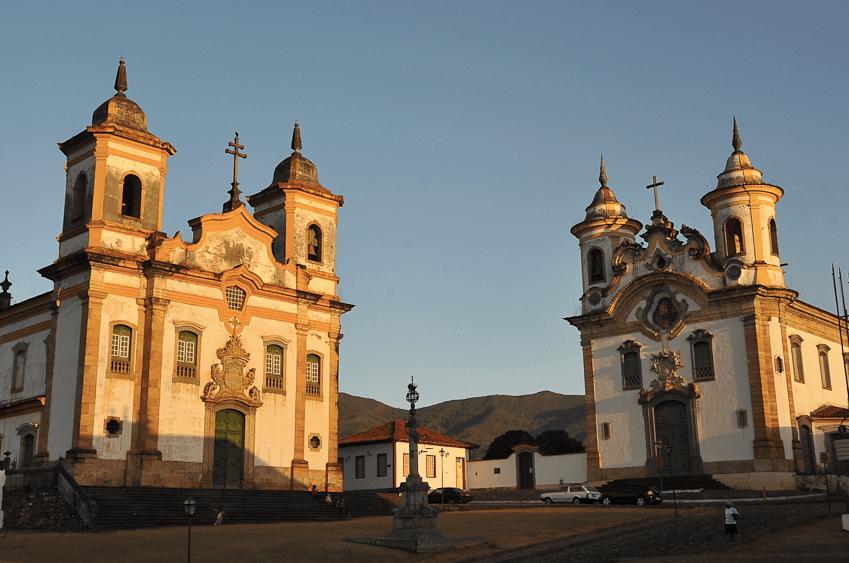 Praça Minas Gerais em Mariana