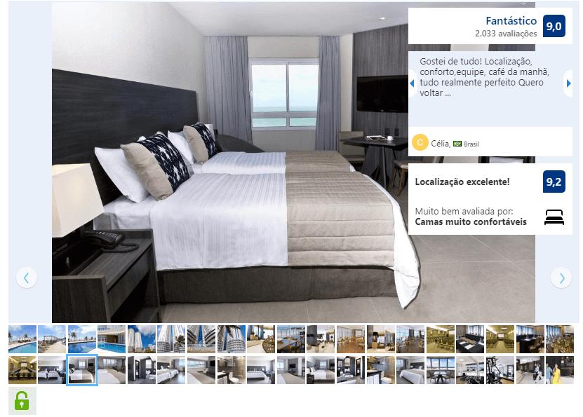 Melhores hotéis em Natal: Quarto do Golden Tulip Natal Ponta Negra