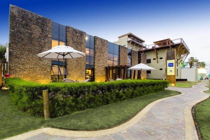 Hotéis no centro turístico de Natal: Fachada do Porto Suítes Natal Hotel