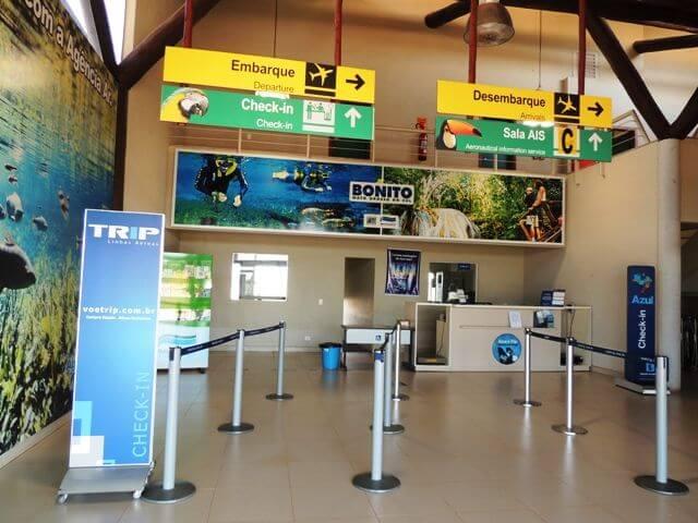 Informações no aeroporto de Bonito